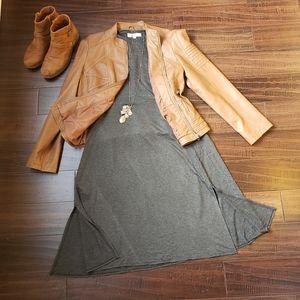 Loft Charcoal Soft Tank Swing Dress - Size 14